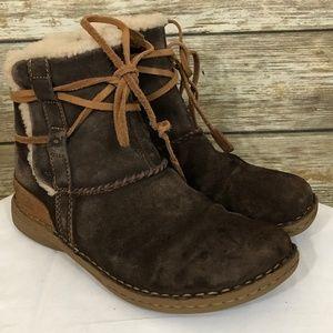 UGG La Jolla Brown Sheepskin Boots